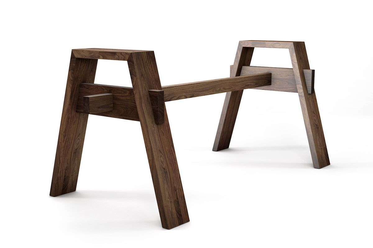 Tisch untergestell nussbaum nach ma holzpiloten for Nussbaum tisch