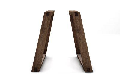Holzkufen Tischgestell Nussbaum massiv im 2er Set nach deinem Maß gefertigt