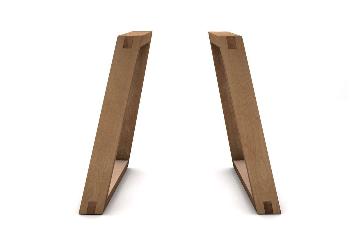 Holzkufen Tischgestell aus Buche auf Maß in vollmassiver Ausführung gefertigt