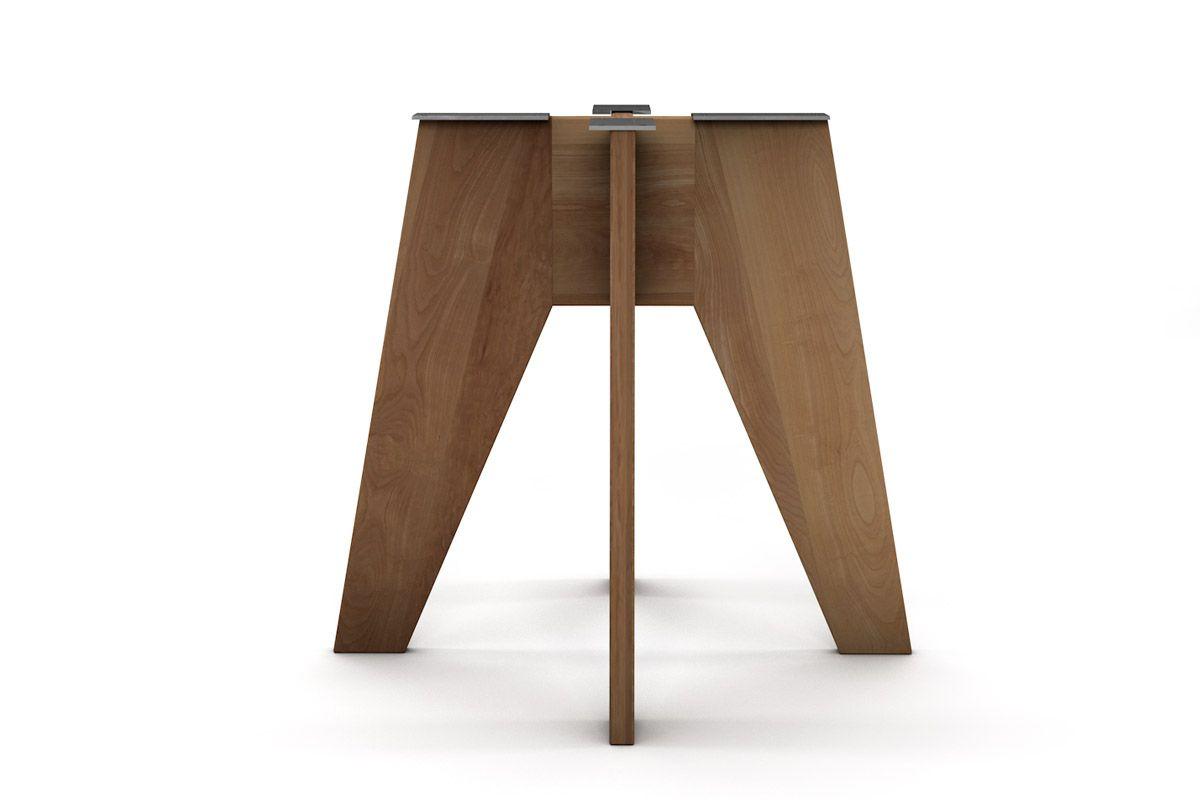Modernes Tischuntergestell nach Maß aus Buchenholz vollmassiv