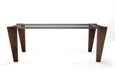 Massivholz Tischgestell Nussbaum auf Maß Modell AFR503
