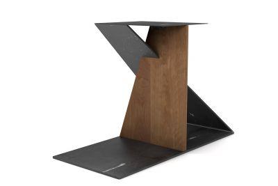 Tischgestell modern aus massiver Buche und Eisen nach Maß gefertigt