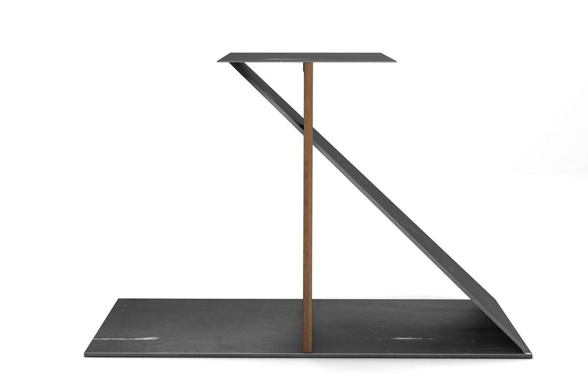 Tischuntergestell nach Maß aus vollmassiver Buche und Stahl gefertigt