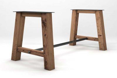 Tischgestell Altholz Eiche massiv im Landhausdesign