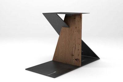 Tischgestell futuristisch aus alter Eiche auf Maß gefertigt