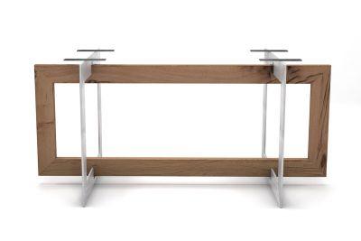 Tischgestell aus Eiche Altholz und Stahl