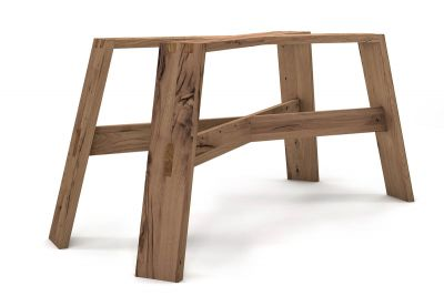 Massivholz Tischuntergestell alte Eiche auf Maß