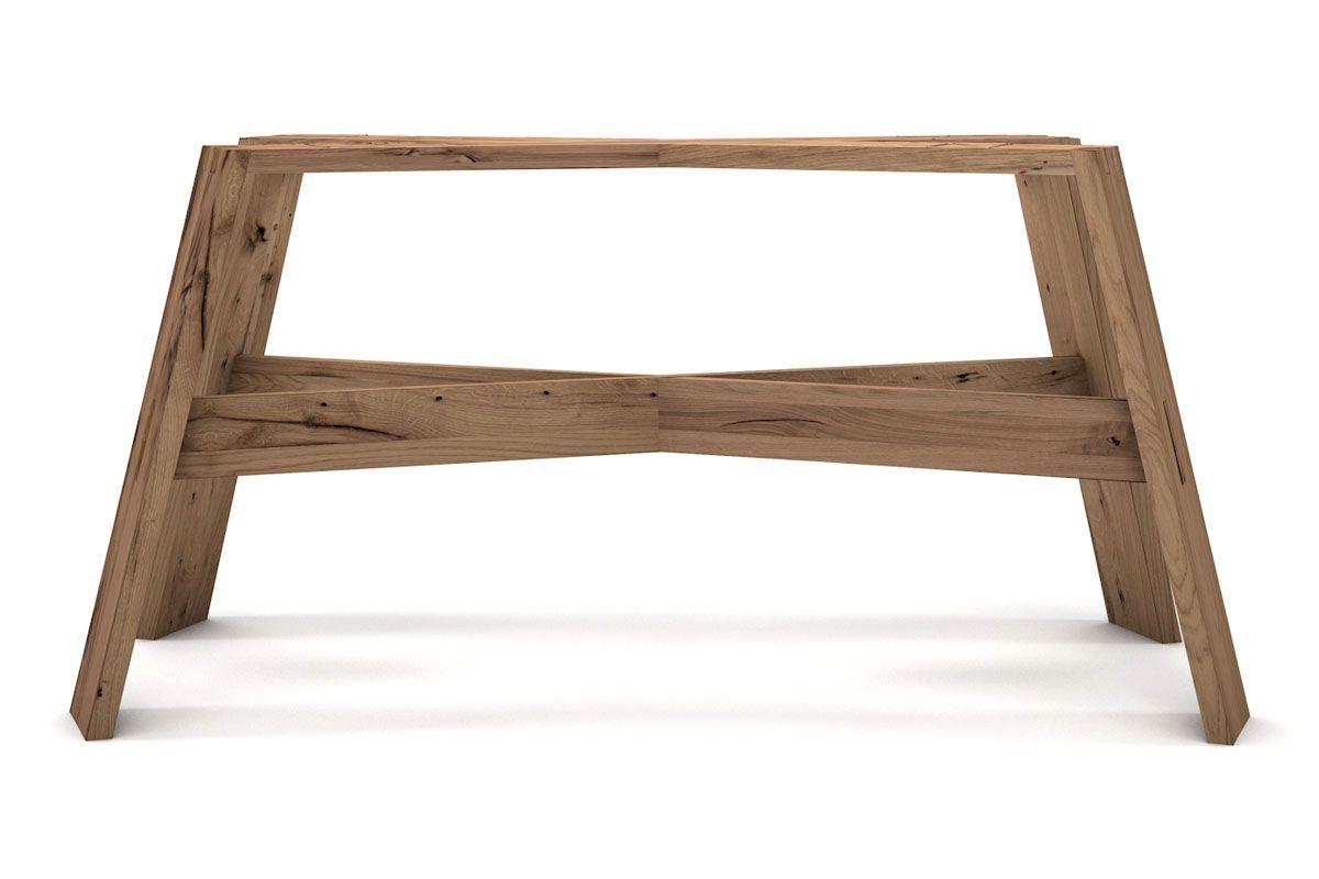Tischgestell modern aus Balkeneiche