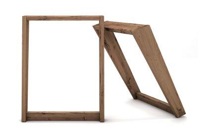 Tischkufen Eiche Altholz im 2er Set nach deinem Maß in Schrägstellung gefertigt