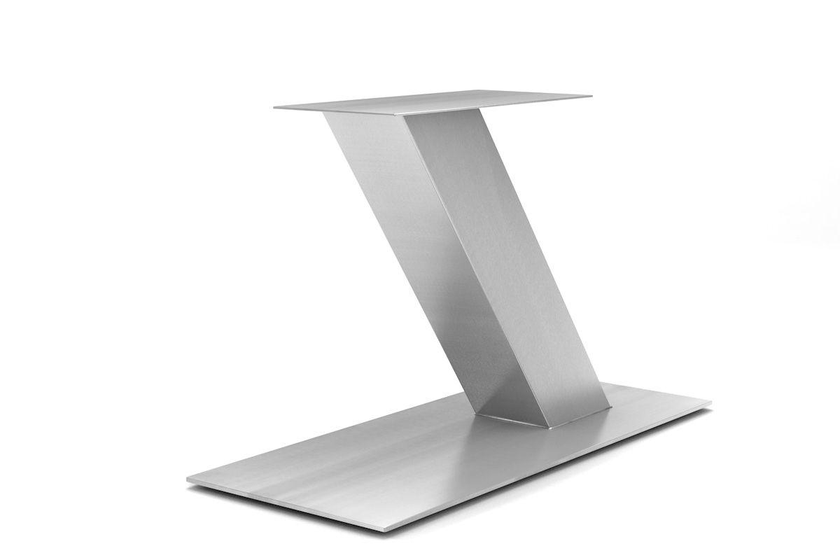 Edelstahl Tischgestell Mittelfuß Schräg Af125