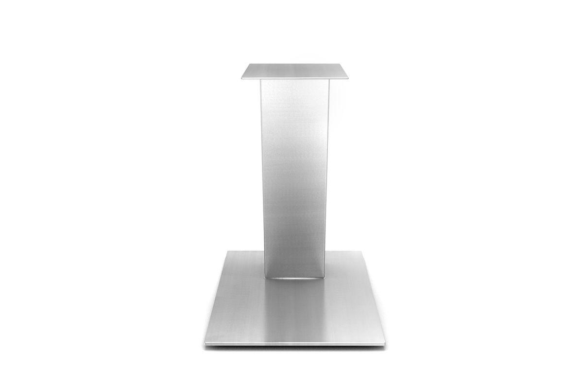 edelstahl tischgestell mittelfu schr g holzpiloten. Black Bedroom Furniture Sets. Home Design Ideas