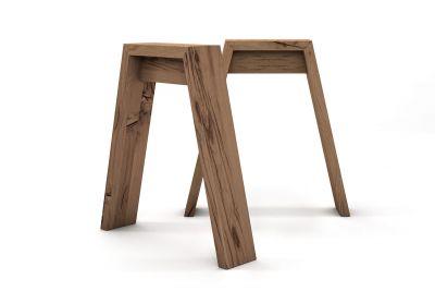 Tischgestell nach Maß Eichen Altholz im 2er Set