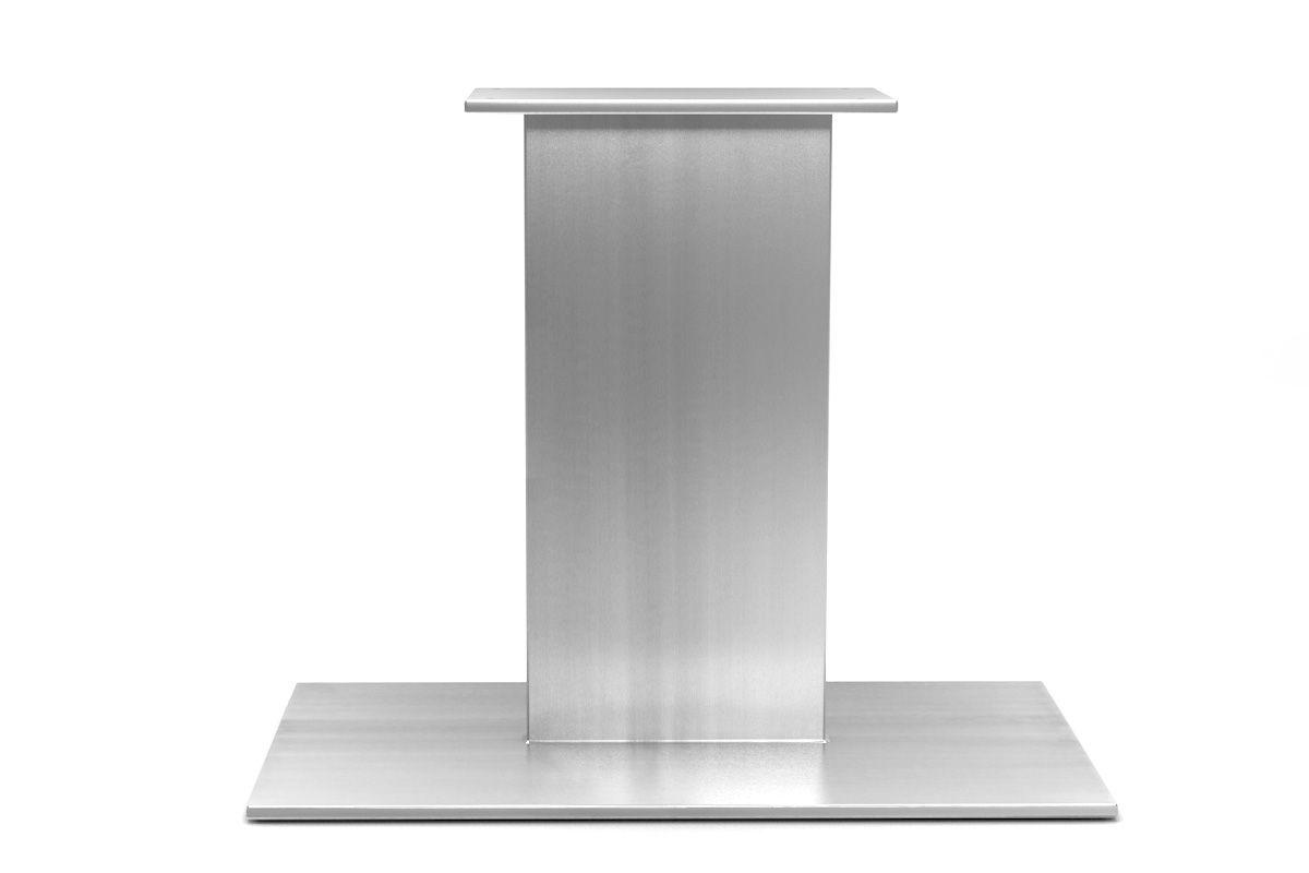So ein Schliffbild gibt es nur bei diesem Tischgestell aus Edelstahl