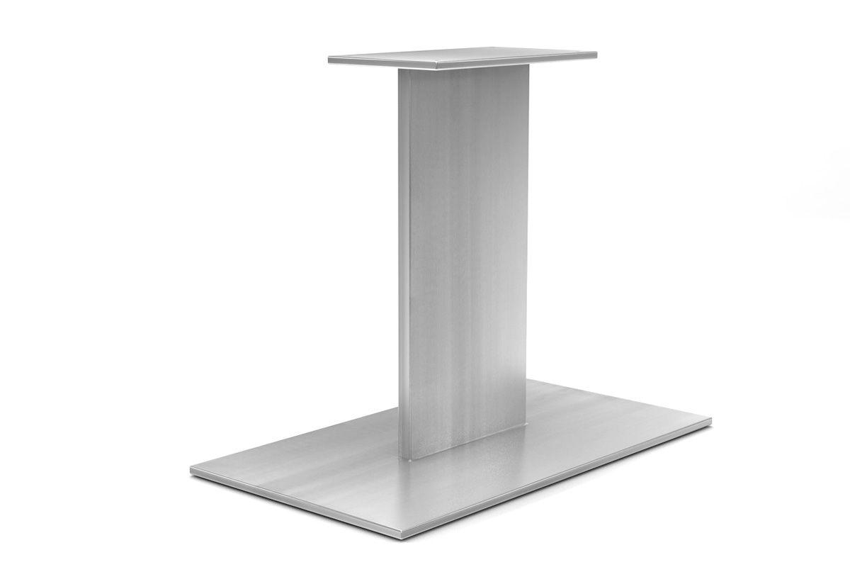 edelstahl mittelfu tischgestell nach ma holzpiloten. Black Bedroom Furniture Sets. Home Design Ideas