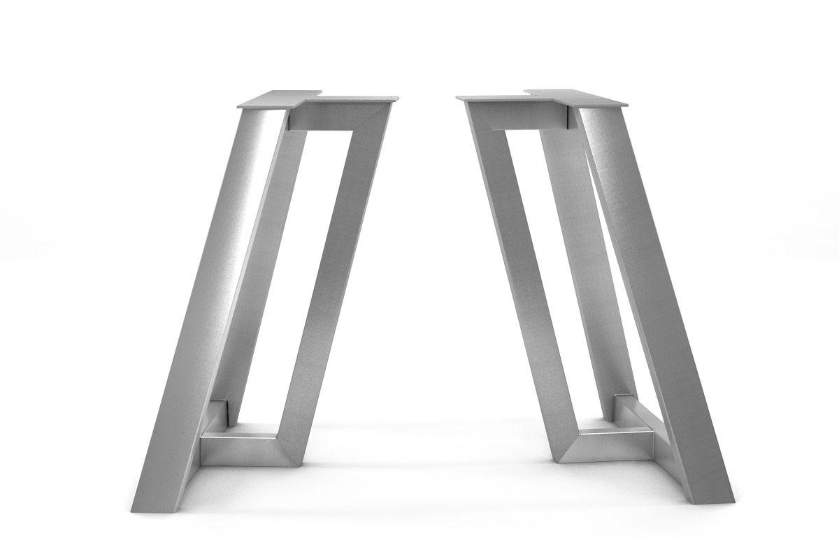Modernes Stahl Untergestell mit leichter Schrägstellung