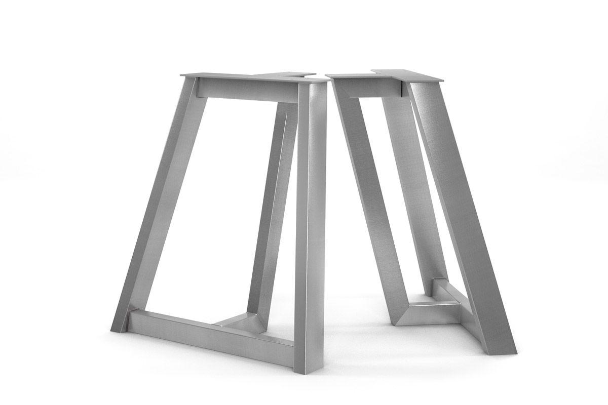 edelstahl tischkufen nach ma holzpiloten. Black Bedroom Furniture Sets. Home Design Ideas
