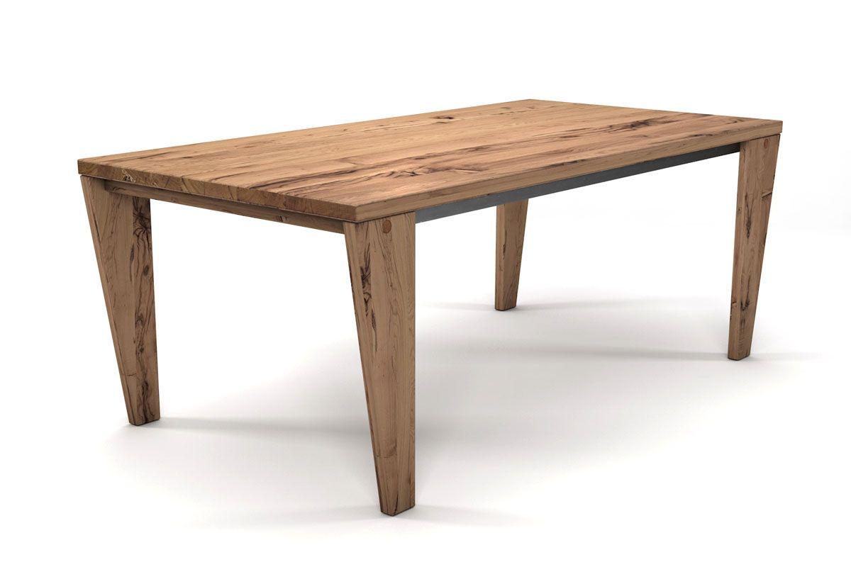 Eiche Altholz Tisch mit selbsttragendem Gestell