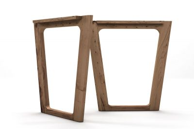 Tischkufen Eiche Altholz 2er Set nach Maß gefertigt.
