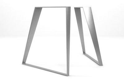 konisch gefertigtes Tischuntergestell aus Edelstahl nach Maß 2er Set