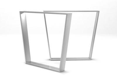 Tischkufen aus Edelstahl mit konischer Formgebung