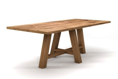 Charakterstarker Eichen Landhaustisch aus vollmassivem Holz