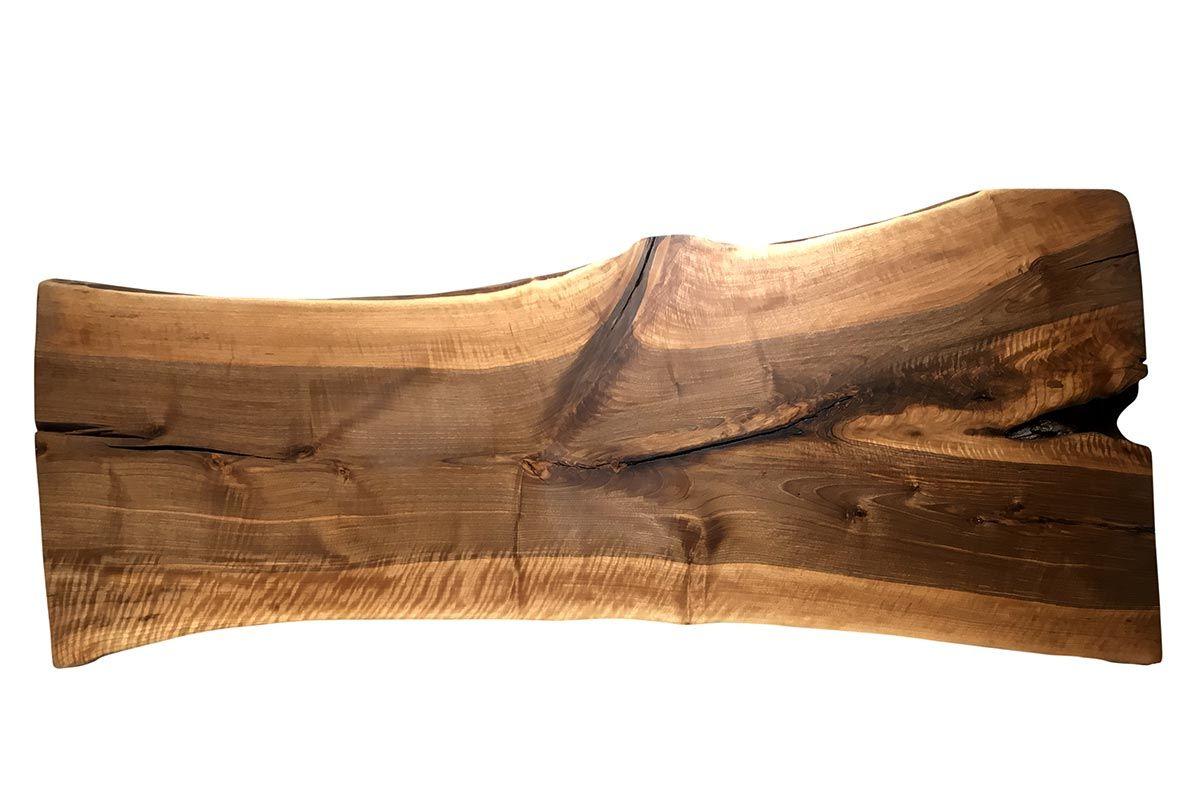 Baumscheiben Tischplatte Nussbaum Unikat 230 - Seite 1