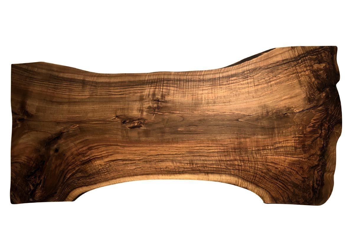 Baum Tischplatte Nussbaum massiv Unikat Nr. 221 - 01