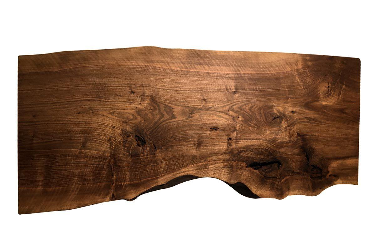 Baumscheibe Tischplatte Nussbaum Unikat Nr. 220 - 01