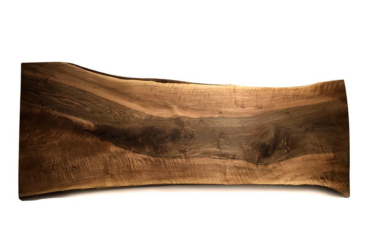 Nussbaum Tischplatte Baumscheibe Unikat 219 - Seite 1
