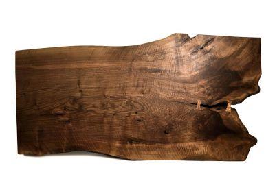 Tischplatte Nussbaum Baumscheibe Unikat Nr. 218
