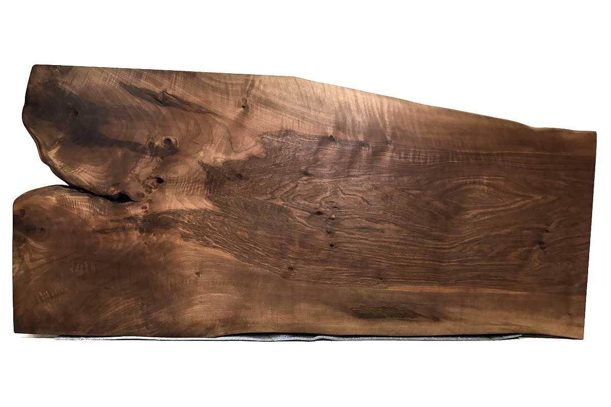 Baumtischplatte Nussbaum vollmassiv Nr.201 Seite 1
