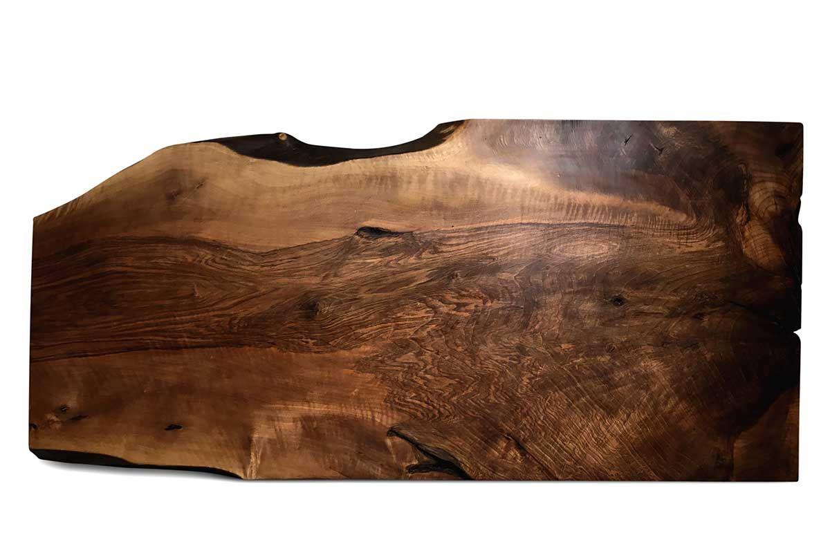 Tischplatte Nussbaum Baumscheibe Unikat Nr.204 Seite 1