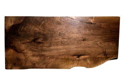 Tisch Holzscheibe aus Nussbaum Unikat 205