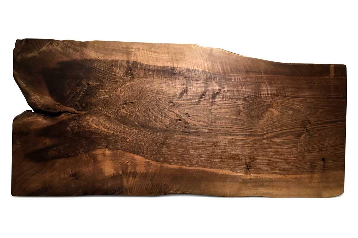 Tisch Baumscheibe Nussbaum massiv Unikat Nr.207 Seite 1