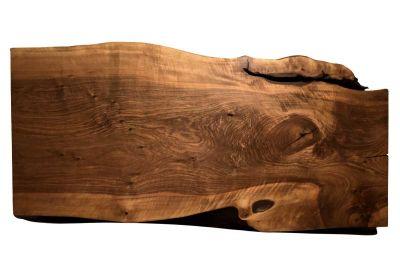 Tischplatte aus Nussbaumstammscheibe vollmassiv 189 cm - Unikat Nr.213