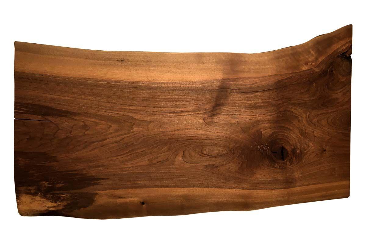 Baumkanten Tischplatte aus europäischem Nussbaum Unikat Nr.211 Seite 1