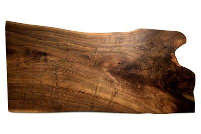 Tischplatte Walnussbaumkantenscheibe vollmassiv 181 cm - Unikat Nr.210
