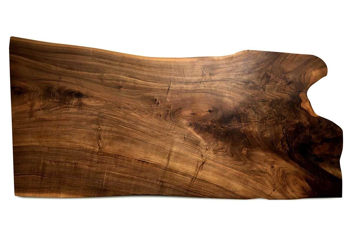 Tischplatte Walnussbaumkantenscheibe vollmassiv Unikat 210 Seite 1