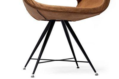 Essstuhl mit Sitzschale modern, Ansicht Stabgestell in schwarz