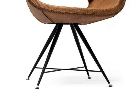Freischwinger Stuhl in der Farbe braun
