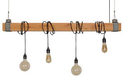 Holz Lampe 135cm HZL