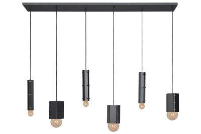 Industriedesign Deckenlampe mit 4 Fassungen aus Stahl