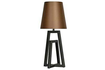 Tischleuchte modern 55cm hoch mit Stoffschirm