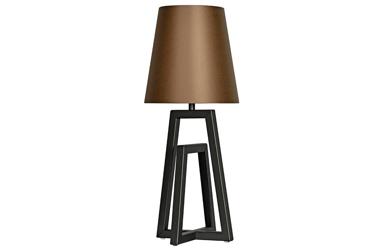 Tischleuchte modern mit einem lackiertem Stahl Standfuß