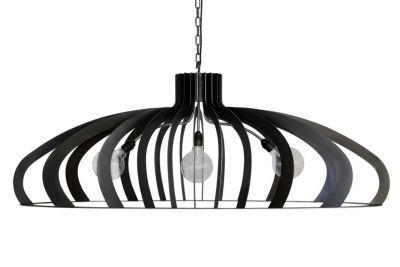 Ovale Deckenlampe aus schwarzem Stahl CAT