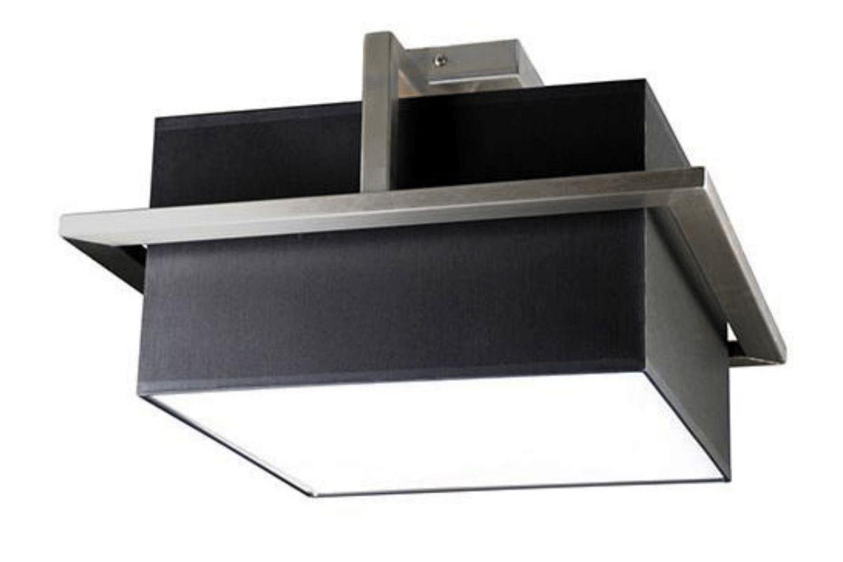 Design Deckenleuchte 44cm quadratisch aus Edelstahl gefertigt