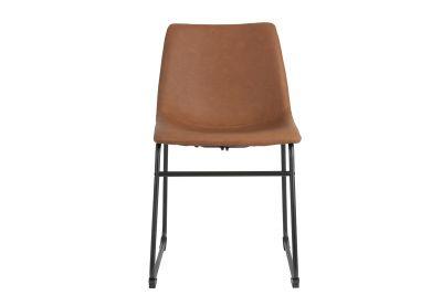 Moderner Kunstleder Stuhl mit einem Stahlgestell in schwarz gefertigt