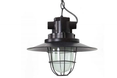 Fabriklampe CALA aus Metall und Glas