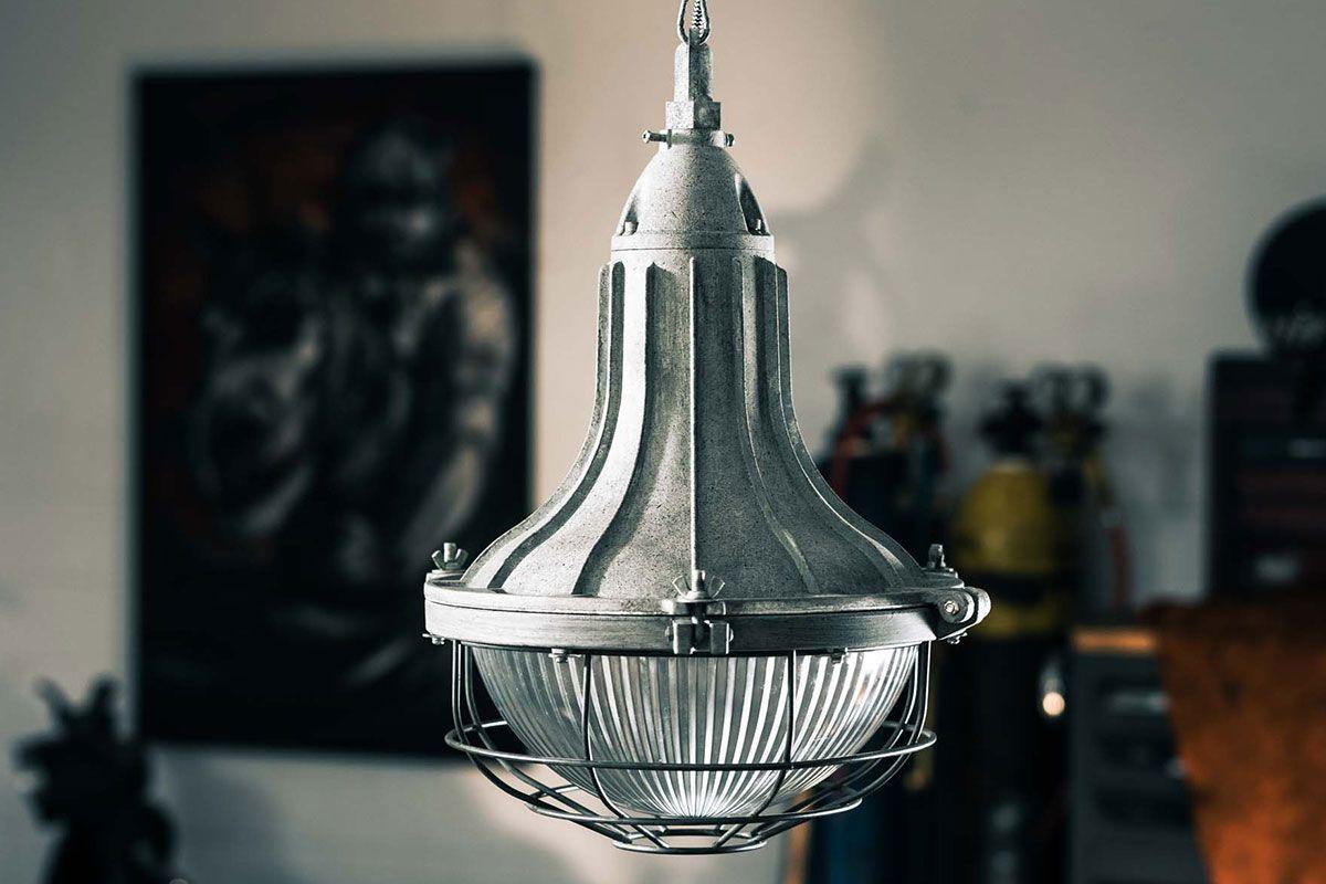 Retro Fabriklampe Metall