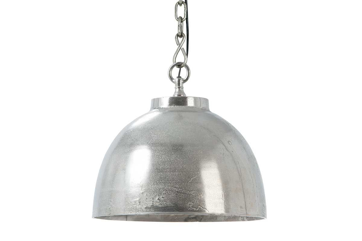 Pendellampe Metall Silber vernickelt